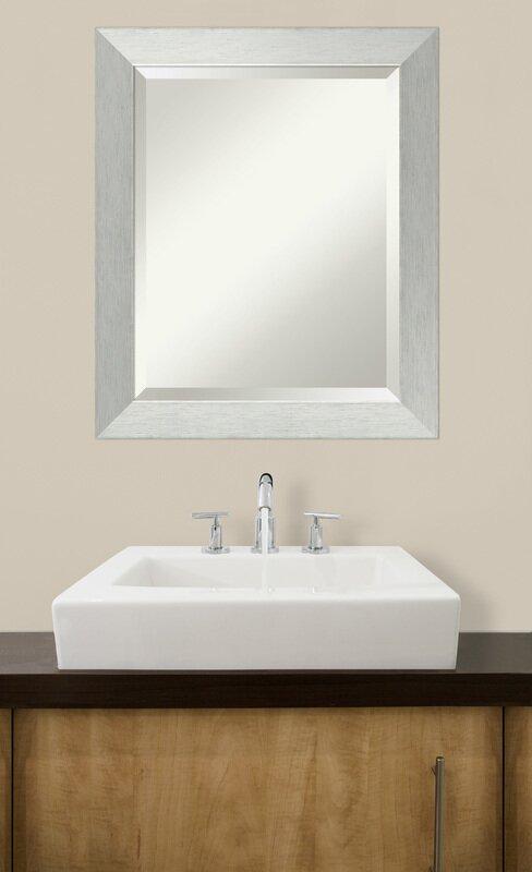 Wood Frame Bathroom Wall Mirror