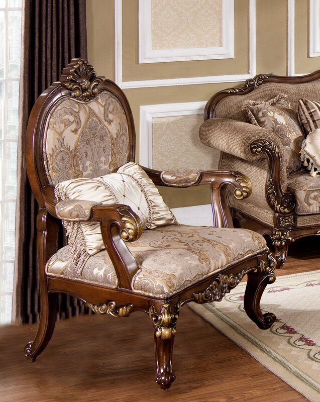 Elegant Fontainbleau Traditional Living Room Armchair Part 29