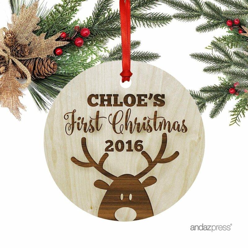 4a8196e16530 Custom Baby s First Christmas Ornament   Reviews