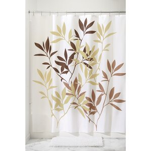 beige and brown shower curtain. Leaves Shower Curtain Brown Curtains You ll Love  Wayfair