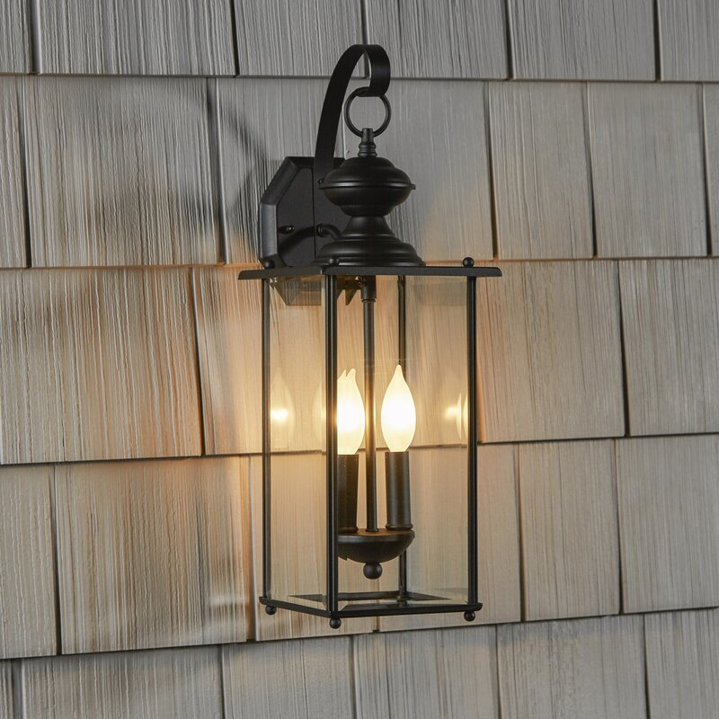 Three Posts Amberley 2 Light Outdoor Wall Lantern Reviews Wayfair