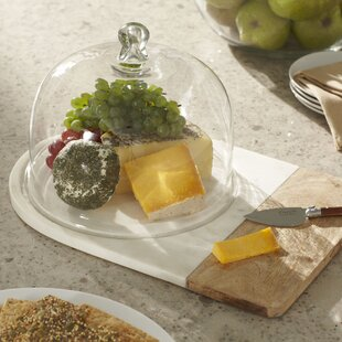 Russo Cheese Board with Dome & Cheese Board With Glass Dome | Wayfair