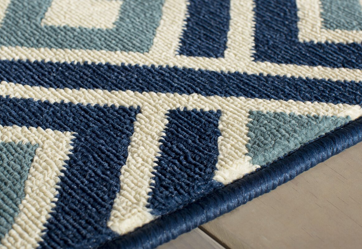 Rahul hand woven blue indoor outdoor area rug reviews for Woven vinyl outdoor rugs