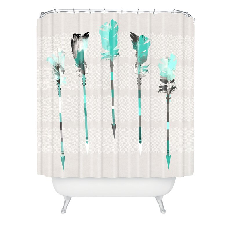 East Urban Home Feather Shower Curtain Reviews