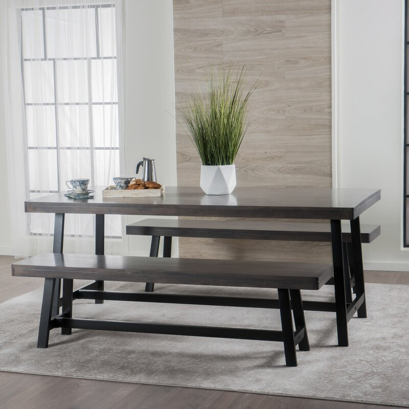 Maggie Rubberwood 3 Piece Dining Set Amp Reviews Allmodern