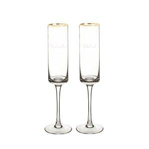 2piece 8 oz champagne flute set of 2