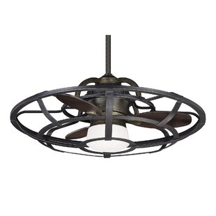 Flush mount ceiling fans joss main 26 fairy 3 blade outdoor ceiling fan with remote aloadofball Choice Image