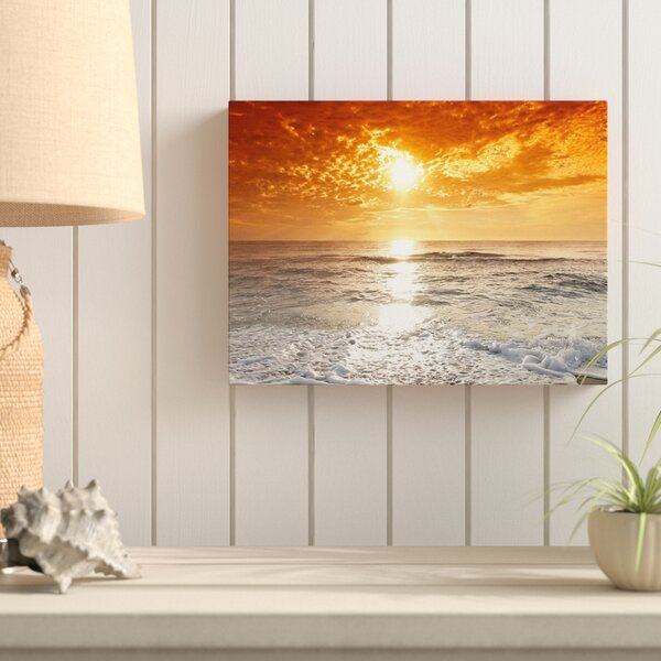 Hokku Designs Sunset Over Ocean And Clouds Photographic