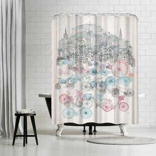 Wonderful Bicycle Shower Curtain | Wayfair BX51