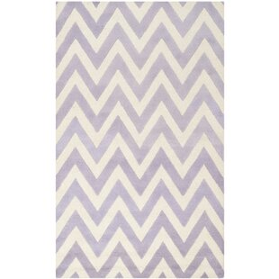 Wilson Hand-Tufted Wool Lavender/Ivory Area Rug by Safavieh