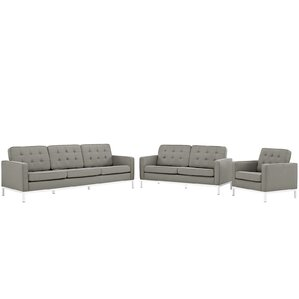 Gayatri 3 Piece Living Room Set by Orren Ellis
