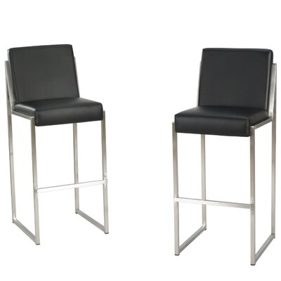 Modern Black Leather Bar Counter Stools Allmodern