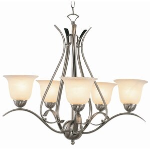 5light shaded chandelier