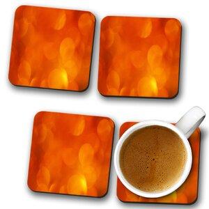 Orange Abstract Art (7) Coaster (Set of 4)