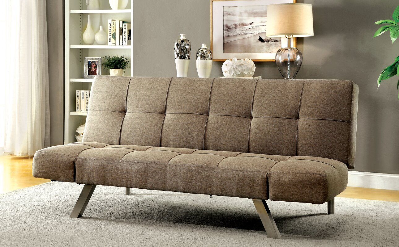 dockins tufted futon convertible sofa brayden studio dockins tufted futon convertible sofa  u0026 reviews      rh   wayfair