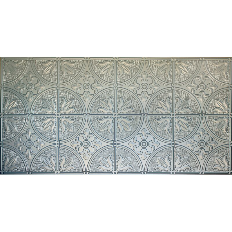 Global Specialty Products Glue Up Traditional 2 X 4 Tin Ceiling Tile In Nickel Reviews Wayfair