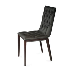 Cult Side Chair in Genuine Leather - Black by YumanMod