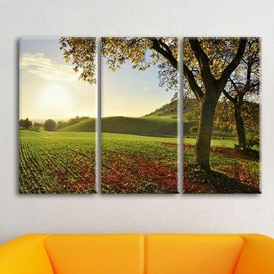 Leinwandbilder Set Landschaft Im Herbst, Fotodruck