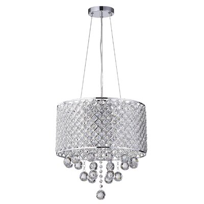 Ginnia 4 light crystal chandelier