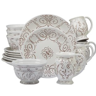 Lazo 16 Piece Dinnerware Set Service for 4  sc 1 st  Wayfair & French Country Dinnerware Sets You\u0027ll Love