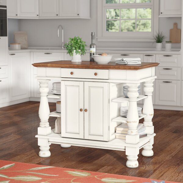 August Grove Collette Kitchen Island Amp Reviews Wayfair