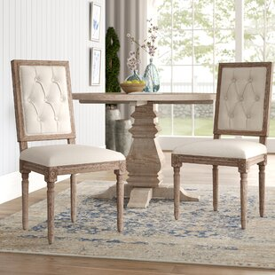 Patillo Tufted Square Back Upholstered Dining Chair (Set of 2)