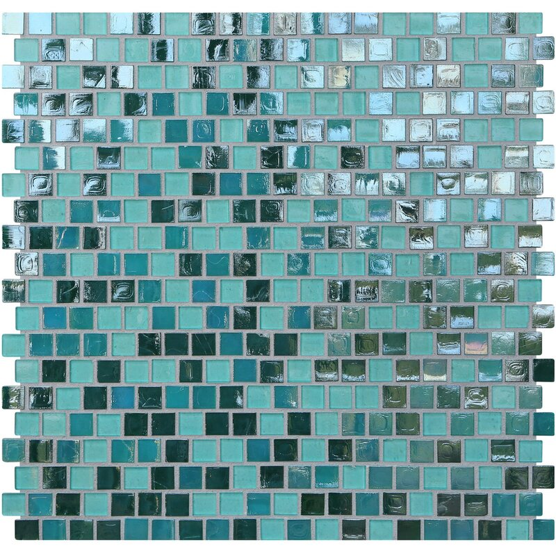 Kellani Opal 0 63 X Gl Mosaic Tile In Blue Lagoon Wayfair