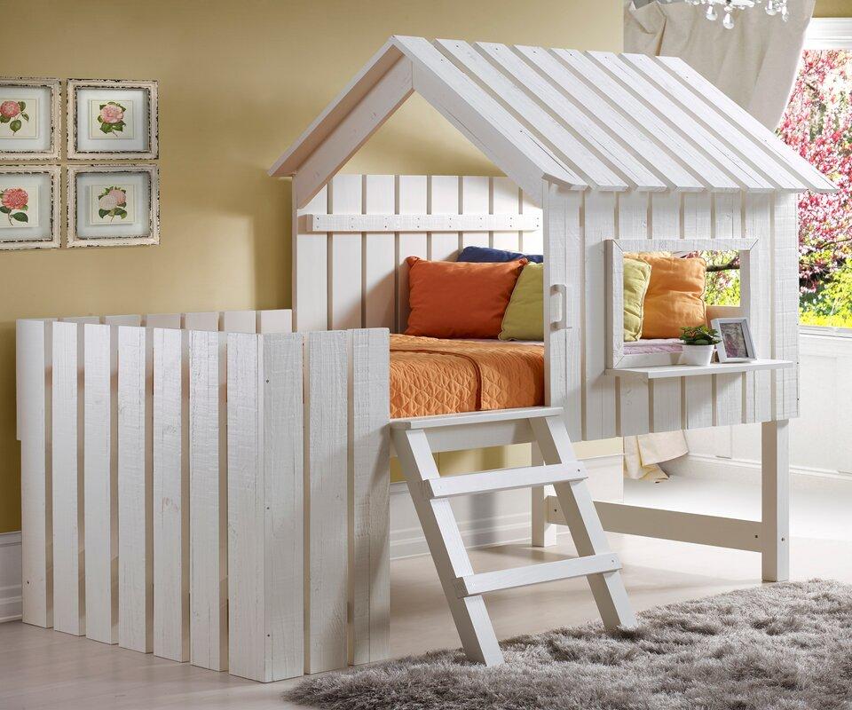 Pictures Of Loft Beds donco kids cabana twin low loft bed & reviews | wayfair