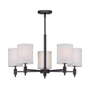 Moriarty 5-Light Shaded Candle-Style Chandelier