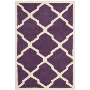 Wilkin Purple/Ivory Area Rug