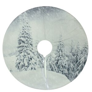 snowy woodland christmas tree skirt - Silver Christmas Tree Skirt