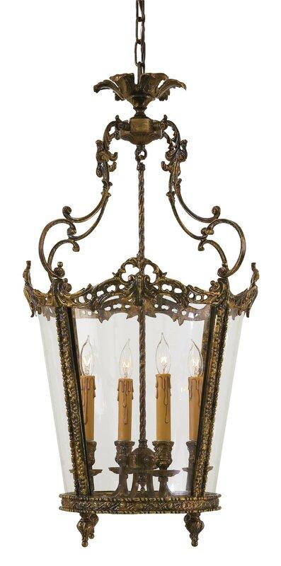 Vintage 4-Light Foyer Pendant