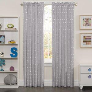Carolyn Super Star Blackout Rod Pocket Single Curtain Panel