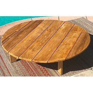 Round Outdoor Teak Coffee Table | Wayfair