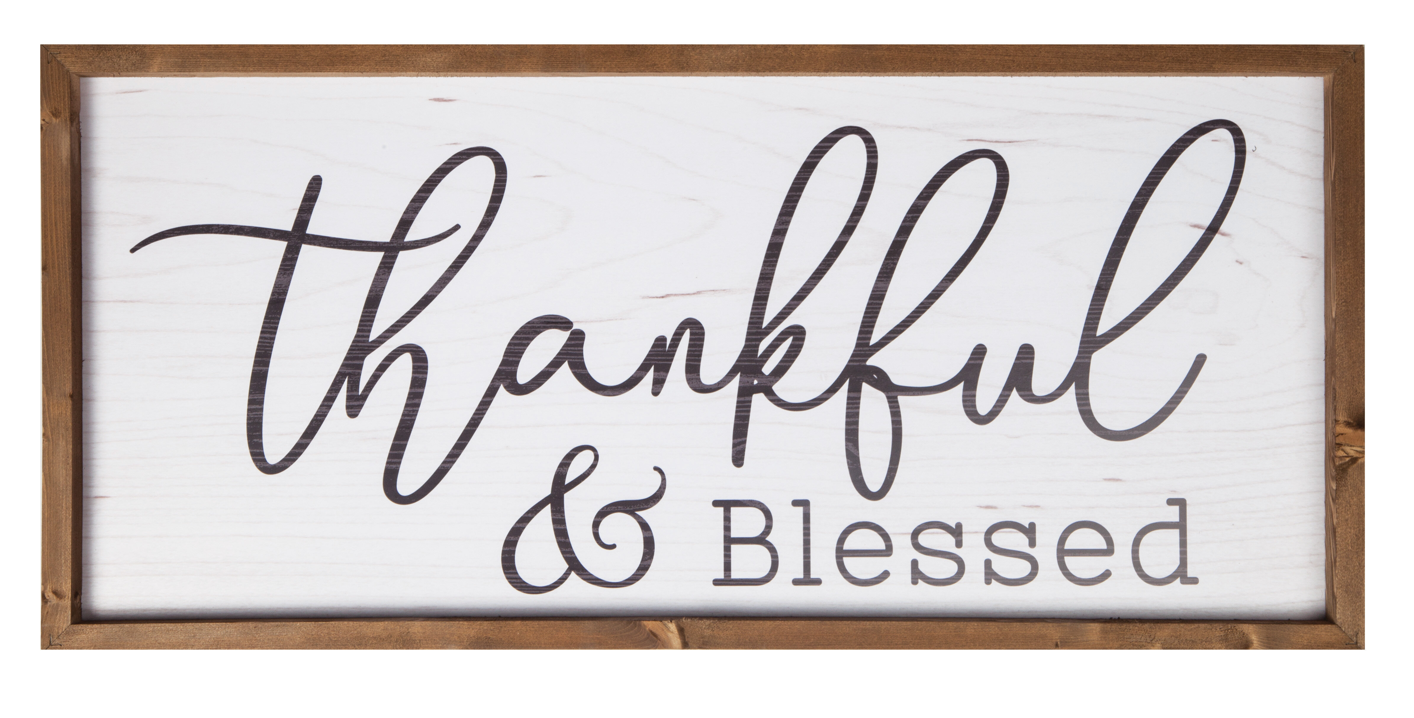 Thankful and Blessed Frame Wall Décor