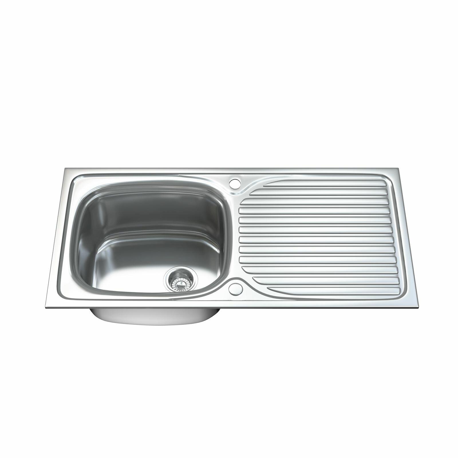 Dihl 100cm x 50cm Stainless Steel Kitchen Sink | Wayfair.co.uk