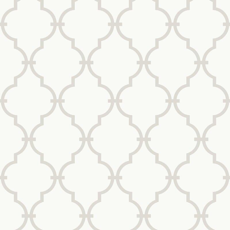 morrow 15 x 6 trellis wallpaper roll - Trellis Wall Paper