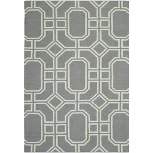 Dhurrie Hand-Tufted Wool Grey/Ivory Area Rug by Safavieh