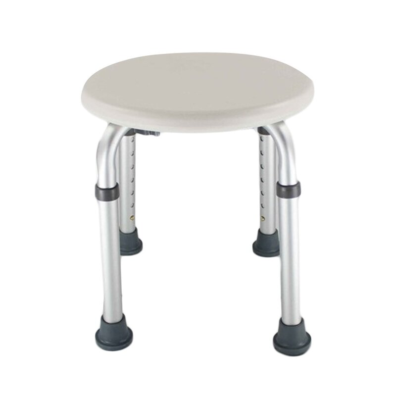 JTplus Alloy Elderly Round Shower Chair & Reviews | Wayfair
