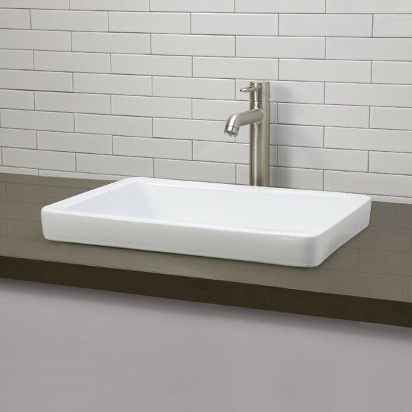 High Quality DECOLAV Ambre Classically Redefined Semi Rectangular Vessel Bathroom Sink U0026  Reviews | Wayfair