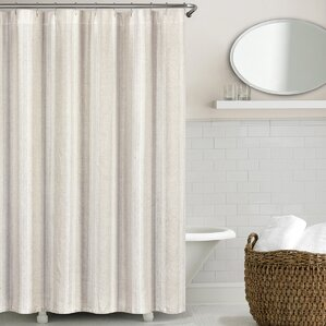 terry cloth shower curtain.  Ivory Cream Ruffled Shower Curtains You ll Love Wayfair