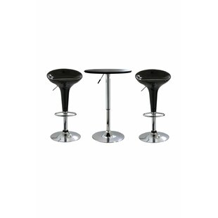 Gess 3 Piece Adjustable Pub Table Set