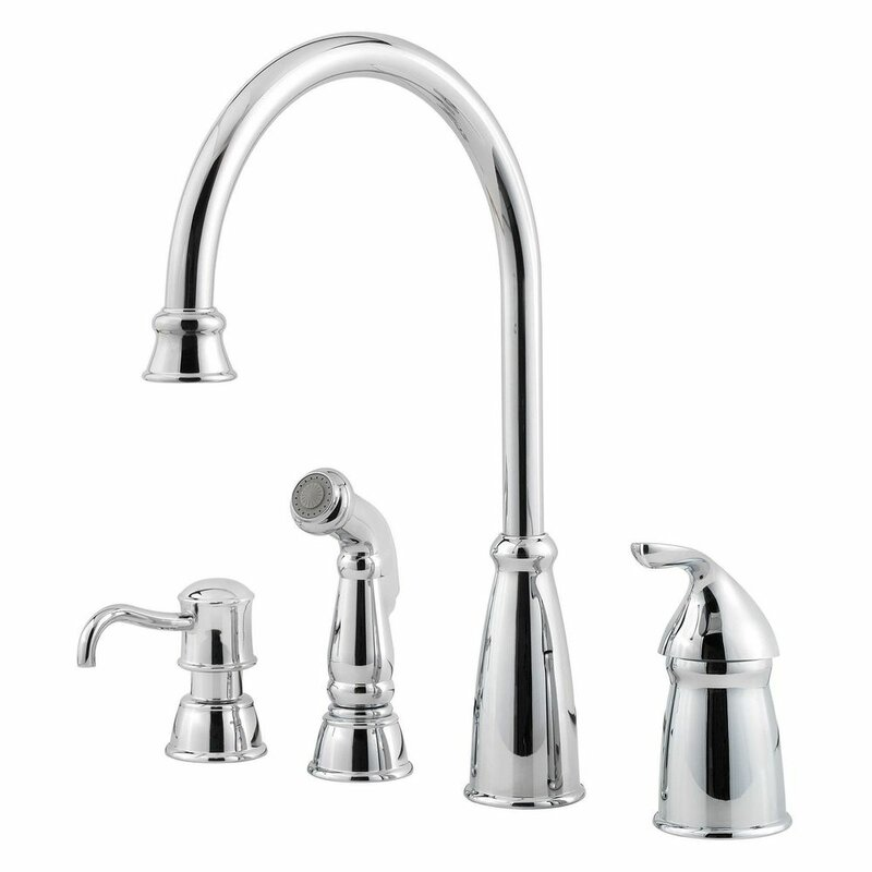 Pfister Avalon Single Handle Kitchen Faucet with Side Spray ...