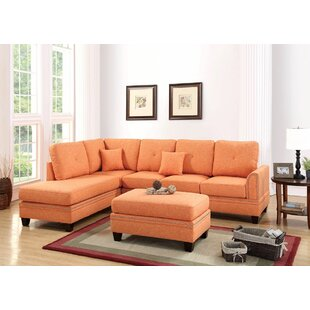 Orange Sectionals You\'ll Love | Wayfair