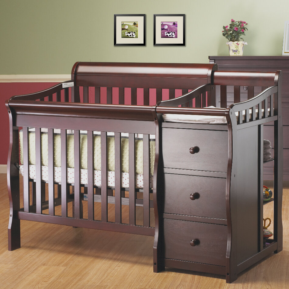 Sorelle Newport 2 In 1 Convertible Mini Crib And Changer U0026 Reviews | Wayfair