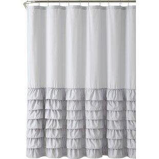 Modern Gray & Silver Shower Curtains