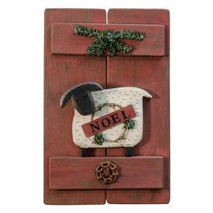 Noel Sheep Wooden Decorative Shutter