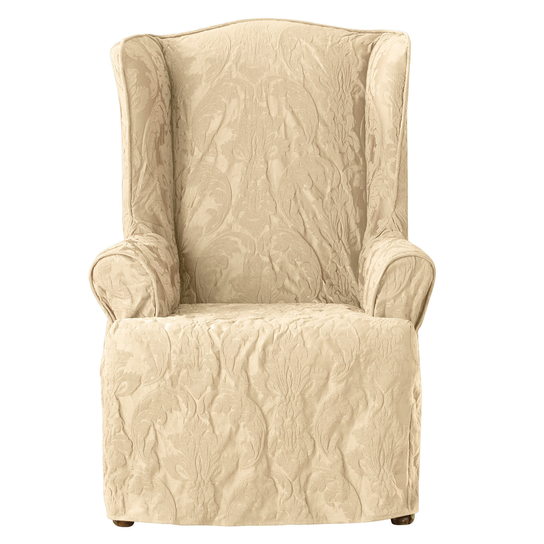 Sure Fit Matelasse Damask T Cushion Wingback Slipcover Reviews