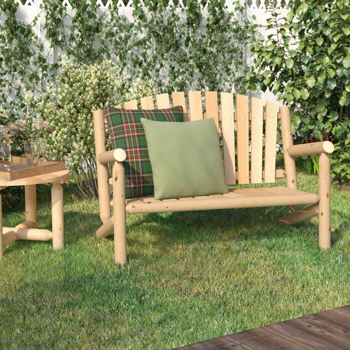 patio fir bench wood wooden garden image tj seats hughes