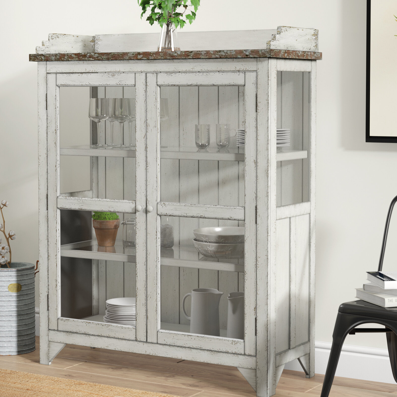 Laurel Foundry Modern Farmhouse Fredericksburg Console Curio Cabinet U0026  Reviews | Wayfair